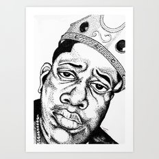 Biggie Smalls Stippling Art Print