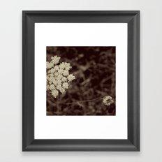 Lace Black and White Flower Framed Art Print