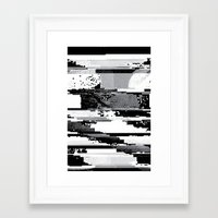 glitch Framed Art Prints featuring Glitch by poindexterity