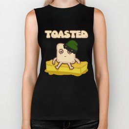 Stoned Toast Mellowing on Cannabis Butter Biker Tank