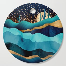 Indigo Desert Night Cutting Board