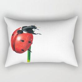 Ladybug | Colored pencil drawing Rectangular Pillow