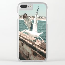 Seagull Taking Flight // California West Coast Pier Vibes Beach Ocean Surf City USA Clear iPhone Case