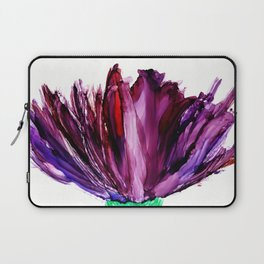 Painted Aster Flower Abstract Laptop Sleeve
