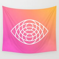 sacred geometry Wall Tapestries featuring Geometry by Geometry