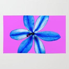 Little Blue Flower Rug