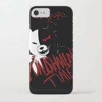 dangan ronpa iPhone & iPod Cases featuring Dangan Ronpa: Monokuma's Punishment by Michelle Rakar