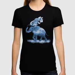 Blue Smoky Clouded Elephant T-shirt