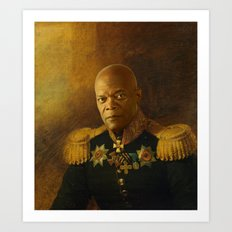 Samuel L. Jackson - replaceface Art Print