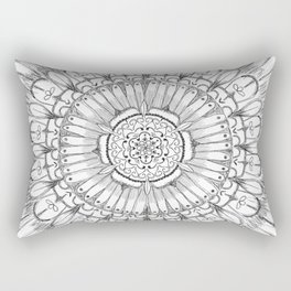 Flower Mandala Rectangular Pillow