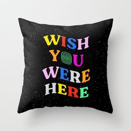 Wish You Were Here: Astro Edition Throw Pillow