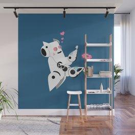 The Adorable Robotic Proposal  Wall Mural