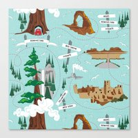 the national Canvas Prints featuring National Parks by Julie's Fabrics & Thingummies
