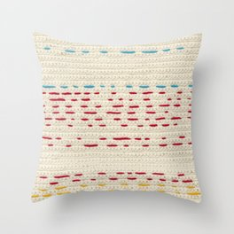 Yarns - Between the lines Throw Pillow