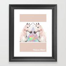 UNICORN BITCH! Framed Art Print