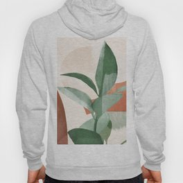 Modern Abstract Art Plant 3 Hoody