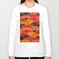 japan Long Sleeve T-shirts featuring JAPAN by rie_lalala
