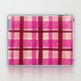 Tissue Paper Plaid - Pink Laptop & iPad Skin