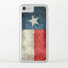 Texas state flag, Vertical retro vintage version Clear iPhone Case