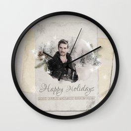 OUAT HAPPY HOLIDAYS // Captain Hook Wall Clock