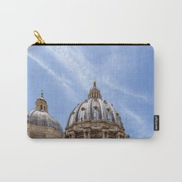 St Peter's basilica dome close-up view in Vatican - Rome, Italy Carry-All Pouch