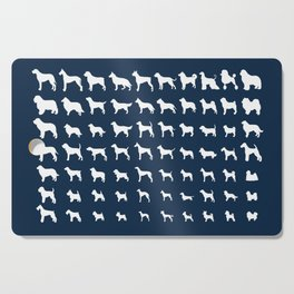 All Dogs (Navy) Cutting Board