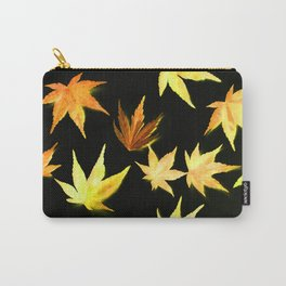 AUTUMN ROMANCE - LEAVES PATTERN #4 #decor #art #society6 Carry-All Pouch