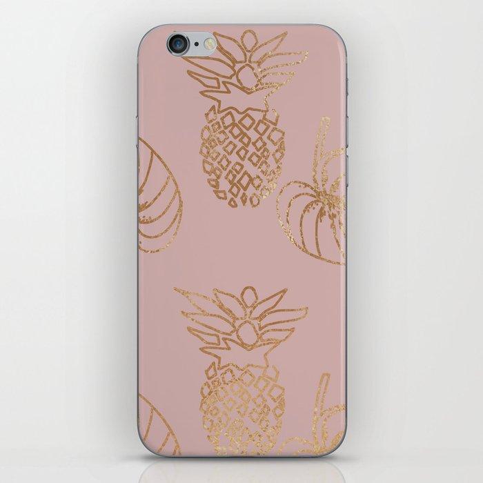 Gold Tropical iPhone Skin