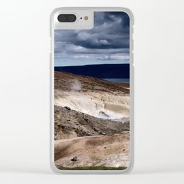geothermal activity Clear iPhone Case