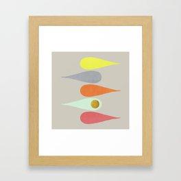 Vintage minimal improvisation 3 Framed Art Print