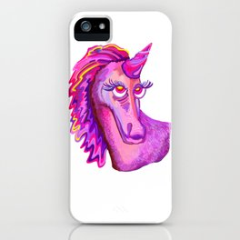 Self-Portrait of a Unicorn iPhone Case