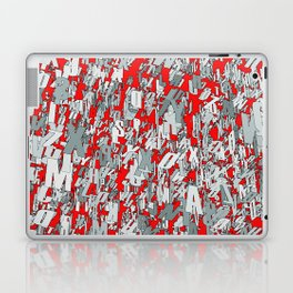 The letter matrix RED Laptop & iPad Skin