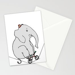 Elephant on a wire Stationery Cards