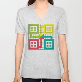 Ludo Game Unisex V-Neck