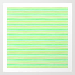 Yellow Lime Blue Scrapbook Sherbert Art Print