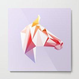 Geometrical Horse Metal Print