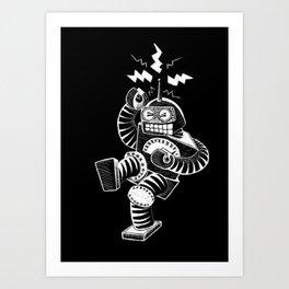 ELECTRIC! (Air-Guitaring Robot) Art Print