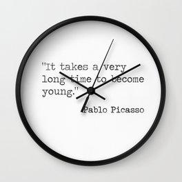 Pablo P. quote Wall Clock