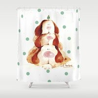 puppies Shower Curtains featuring Puppies by LolMalone