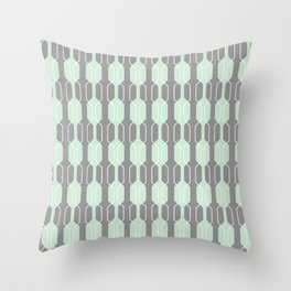 Grey and Mint Geometric Lines. Manchester Architecture Collection Throw Pillow