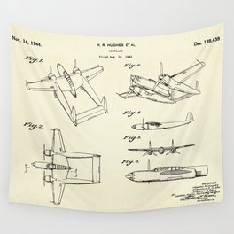 Airplane H R Hughes-1944 Wall Tapestry