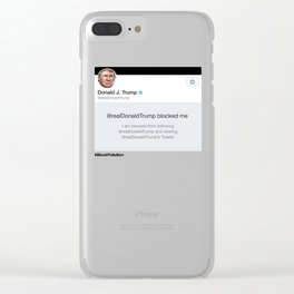 Block Pollution Clear iPhone Case