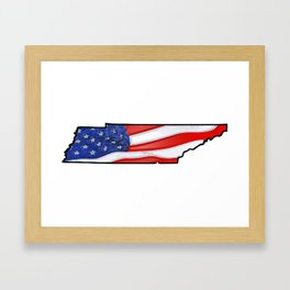 Patriotic Tennessee Framed Art Print