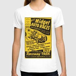 Midget Auto Races, Race poster, vintage poster T-shirt
