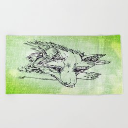 NV: Keer: green  Beach Towel