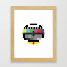 Mire - Testcard - Big Bang Theory Framed Art Print