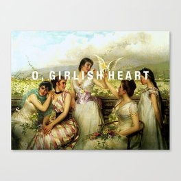 o, girlish heart Canvas Print