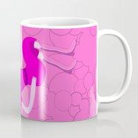 bubblegum Mugs featuring Bubblegum by Tia Hank