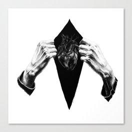 Open heart (B&W) Canvas Print