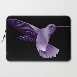 Abstract Purple Hummingbird Laptop Sleeve